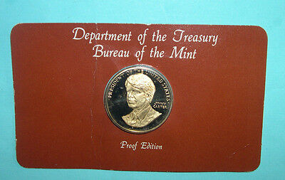 Jimmy Carter Bureau of the mint proof edition Presidential coin *Sealed in card*