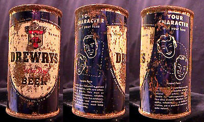 Drewrys Extra Dry Beer - Your Character - Mid 1950's - 12Oz Flat Top Set Can