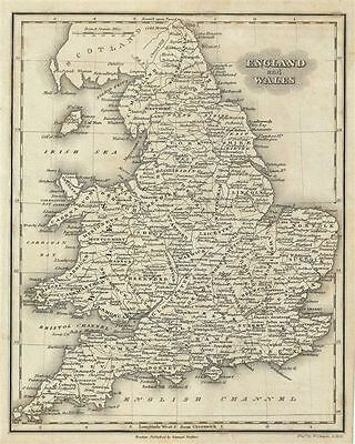 1828 Malte-Brun Map of England and Wales