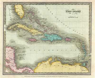1834 Burr Map of the West Indies