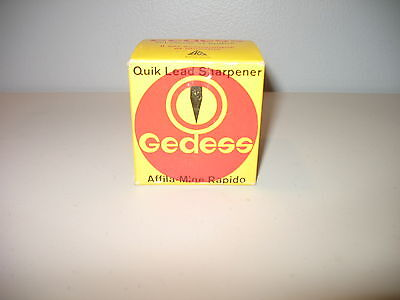 Vintage Gedess Quick Lead Sharpener Fine Pencils Swiss Made Nos