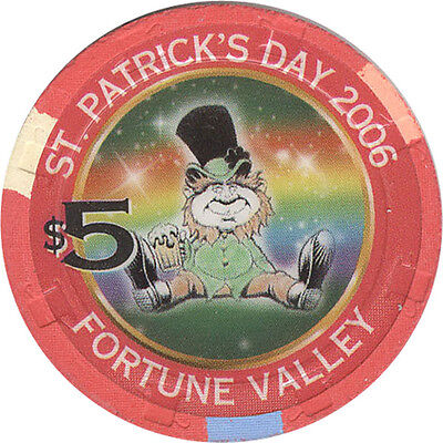 Fortune Valley - St Patrick's Day 2006 - $5 Casino Chip