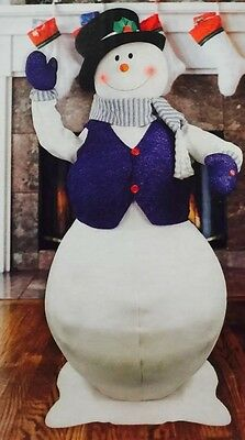 Life Size Animated Musical Snowman-5 Foot-Lighted