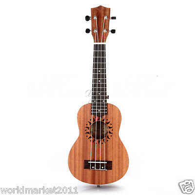 """Brown 21"""" Ukulele Guitar Four String Acoustic Performance Musical Instrument"""