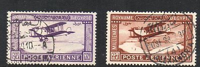 Egypt: 1926 Airmail set (2) SG 132-3 used