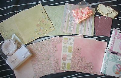 Craft / Card Making Job Lot Bundle - Paper , Tags, Embellishments etc