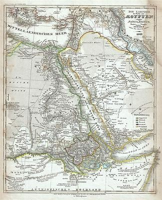 1849 Meyer Map of Egypt, Arabia, Nubia and Syria