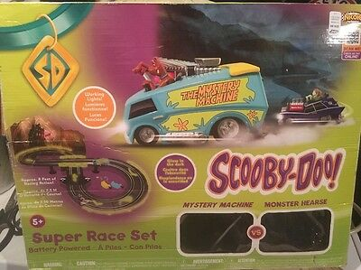 Scooby Doo Mystery Machine Monster Hearse Super Race Track Set - VHTF