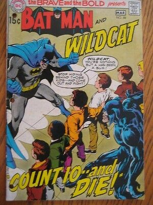 "Brave and The Bold # 88 (1970) Batman and Wildcat.""Count 10 and Die!"" Vg/Fn"