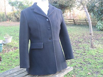 Shires MensClifton 40 inch chest Black Wool Jacket Hunting Jacket Riding VGC