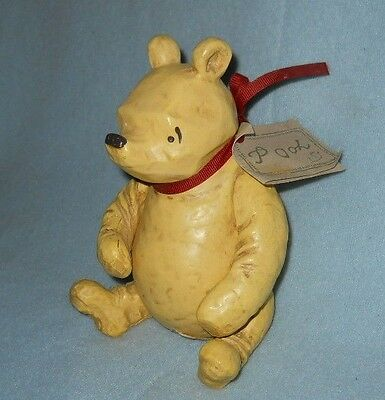 Disney WINNIE THE POOH posable CHARPENTE resin figure jointed arms & legs, label