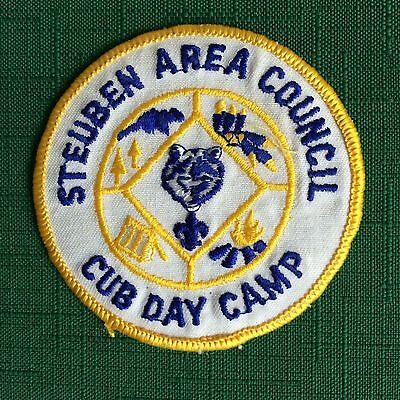 Cub Scout Patch-/ BSA/ *Steuben Area Cub Day Camp* Collectible/ FREE Ship. USA