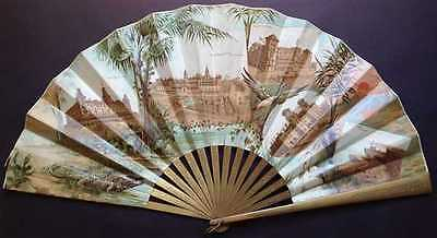1890s View and Fan of St. Augustine, Florida