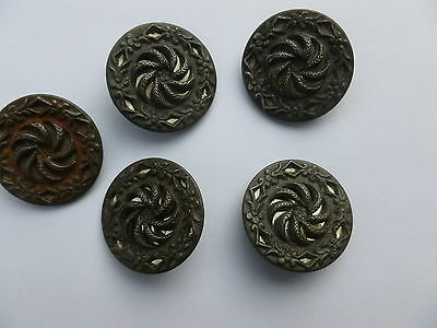 5 BOUTONS  ANCIENS            27   mm