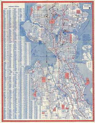 1950s Knoll Map or Plan of the City of Seattle, Washington