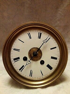 vintage French clock movement for spares or repairs