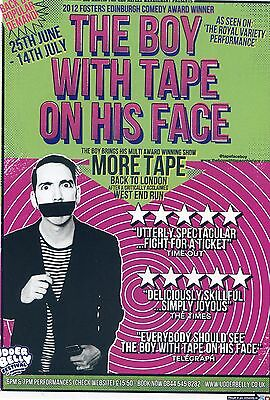 THE BOY WITH TAPE ON HIS FACE Theatre Flyer Handbill