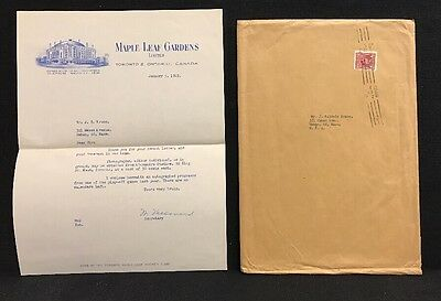 Vintage Letter And Envelope From Maple Leafs Garden