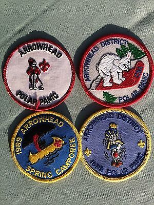 BOY SCOUT Patches/ 4 ARROWHEAD DISTRICT/ Camporee/ Collectible