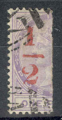 DOMINICA 1882, 1/2 in red on bisected half of 1d Lilac, Fine used