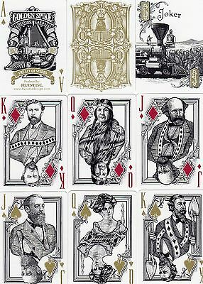 """SEALED PACK """"Bicycle Type - Golden Spike Railroad (Superb Cards)"""" Playing Cards"""