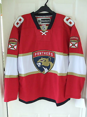 BNWT Florida Panthers   #68 Jagr    Red  2016 Home  Ice Hockey Jersey   L