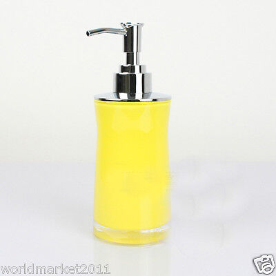 New Acrylic Yellow Manual Control Soap Dispenser Hand Sanitizer Machine