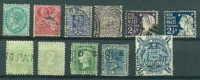 C748 Australia New South Wales. Lot 11 Stamps Used.