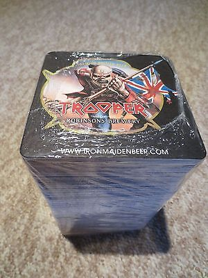 Iron Maiden 'the Trooper' Stack Of Beer Mats Mint & Sealed Rare (Book Of Souls)