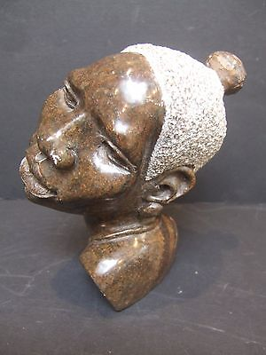 20th Century African Hard stone carved head.