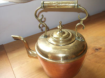 A Very Large Brass And Copper Antique Kettle