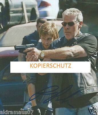 Sons Of Anarchy Tolles Autogramm Ron Perlman / Clay