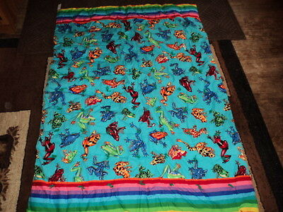 Frogs,bullfrogs,treefrogs Very Colorful!!! Blanket/throw/tapestry.40 X 56 Inches
