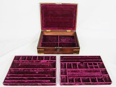 EXCELLENT GEORGIAN ANTIQUE BRASS BOUND MAHOGANY JEWELLERY BOX 1800 casket