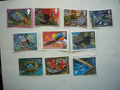 """Greetings stamps """"Good Luck"""" fine used set from 1991 some on paper"""