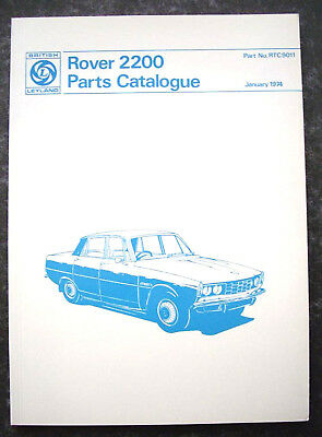 Rover P6 2200 - Parts Catalogue - Brand New From P6Roc - Part No. Rtc9011
