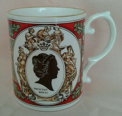 Caverswall Mug Granting Title Of Princess Royal To Princess Anne 1987 Ld Ed 200.