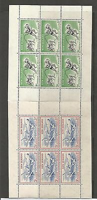 New Zealand  Health Stamps 1957 Two Mint Blocks Of Six Ref 297