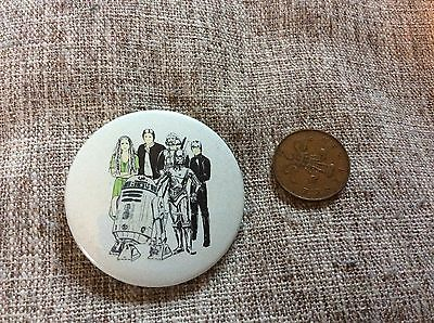 Vintage 1980's Collectable Badge. Star Wars Characters Picture Badge