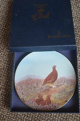 ROYAL DOULTON THE FAMOUS GROUSE CLUB Collectors Plate Summer in the Highlands