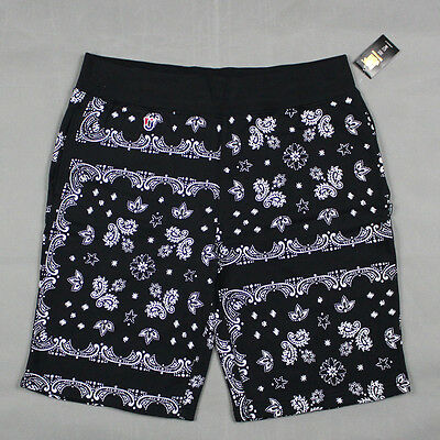 Undefeated - The Bandana Shorts in Black NWT UNDFTD
