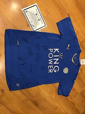 Men's football shirt Leicester City Size Xl Bnwt Team Signed With Certificate