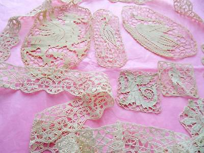 A Beautiful Collection Antique Needle Lace Panels.