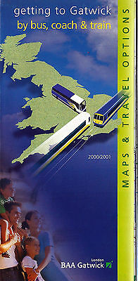Gatwick Airport Road & Rail Travel Option transport guide - 2000/01