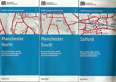 Greater Manchester PTE Manchester/Salford area Transport Maps - March 2012