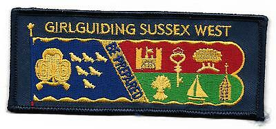 Girl Guiding Sussex West  Cloth Standard Badge