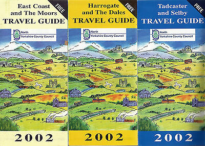 North Yorkshire CC Travel Guide route maps for 2002 (set of three)