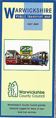 Warwickshire CC Public Transport route map -  May 2000