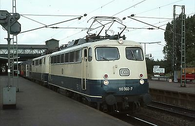 Original Railway Slide Of German Electric Loco 110 302-7