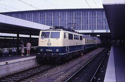 Original Railway Slide Of German Electric Loco 111 191-3